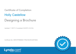 Certificate of Completion - Designing a Brochure
